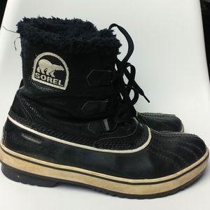 Sorel black fur interior snow / duck boots